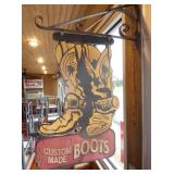 15X24 CUSTOM BOOTS TRADE SIGN