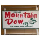 24X48 LIGHTED MOUNTAIN DEW SIGN