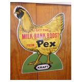 14x20 EMB. PEX MILK CHICKEN SIGN