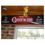 12X48 EMB. CHEERWINE SIGN