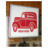 16X16 LIGHTUP GORDONS SIGN
