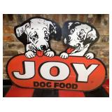 34X46 DIE CUT JOY DOG FOOD SIGN