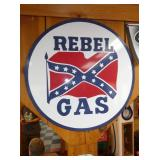 30IN PORC. REBEL GAS SIGN