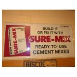 14X39 EMB. SURE MIX CEMENT SIGN