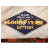 10X18 PORC. GOODYEAR BATTERIES SIGN