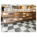 12FT. OAK SEED COUNTER BY SHERER CO.