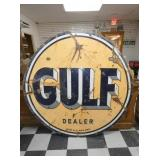 5 1/2FT PORC. GULF DEALER SIGN