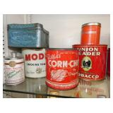 TOBACCO ADV. TINS AND OTHERS