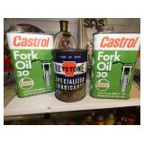 CASTROL, KEYSTONE CANS