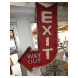 20X30 EXIT WAY OUT ARROW SIGN