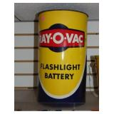 12X20 RAY-O-VAC BATTERY STORE DISPLAY