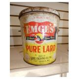 EMGES PURE LARD TIN