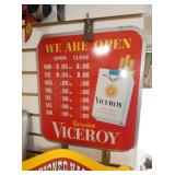 OPEN VICEROY SIGN