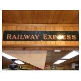 2PC. RAILWAY EXPRESS SIGN
