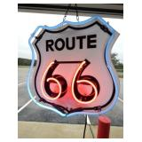17X18 ROUTE 66 NEON SIGN