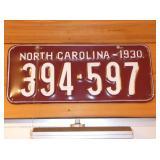 1930 NC LIC. TAG