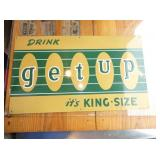 14X24 EMB. GETUP DRINK SIGN