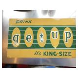 VIEW 2 CLOSEUP EMB. GETUP DRINK SIGN