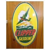 17X32 PORC. CLIPPER GASOLINE SIGN