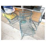 WROUGHT IRON TABLE/CHAIRS