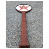 PORC. TEXACO SIGN W/ ORIG. POLE