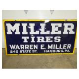 36X72 PORC. MILLER TIRES SIGN