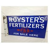 PORC. ROYSTERS FERTILIZERS FLANGE SIGN