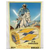 1952 24X36 LONE RANGER MERITA BREAD SIGN