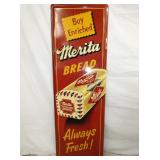 18X55 NOS VERTICAL MERITA BREAD SIGN