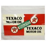 12X22 1946 TEXACO MOTOR OIL SIGN