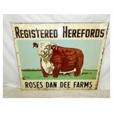 39X48 REGISTERED HEREFORDS BULL SIGN
