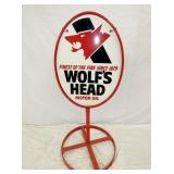 WOLFS HEAD SIDEWALK SIGN