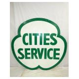 6FT. PORC. CITIES SERVICE GLOVER SIGN