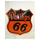 1958 6FT. PORC. PHILLIPS 66 SHIELD
