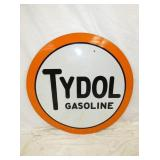 42IN PORC. TYDOL GASOLINE SIGN