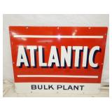 UNUSUAL 27X35 PORC. ATLANTIC BULK PLANT SIGN