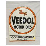 22X28 PORC. VEEDOL MOTOR OILS SIGN
