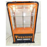 VIEW 7 CLOSE UP LIGHTED SHOWCASE FIRESTONE PUMP