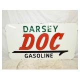 45X83 PORC. DOC GASOLINE SIGN