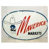 60X95 PORC. MAVERICK MARKETS SIGN