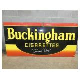 48X95 PORC. BUCKINGHAM CIGARETTES SIGN