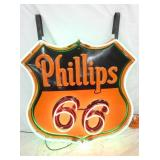 48IN PORC. PHILLIPS 66 NEON