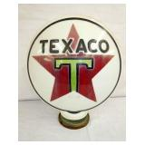 EMB. TEXACO MILK GLASS GAS GLOBE