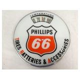 RARE 12IN PHILLIPS 66 BATH SCALES W/ THERM.