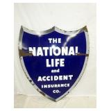 53X60 PORC. NATIONAL LIFE INS. SHIELD SIGN