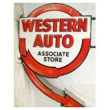 55X77 WESTERN AUTO LIGHTUP CAN SIGN