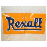 34X59 PORC. 2PC. REXALL SIGN