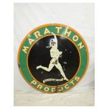 48IN PORC. MARATHON PRODUCTS SIGN