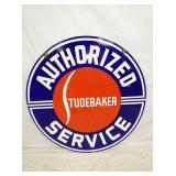 42IN PORC. STUDEBAKER SERVICE SIGN