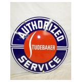VIEW 3 CLOSEUP AUTHORIZED STUDEBAKER SIGN